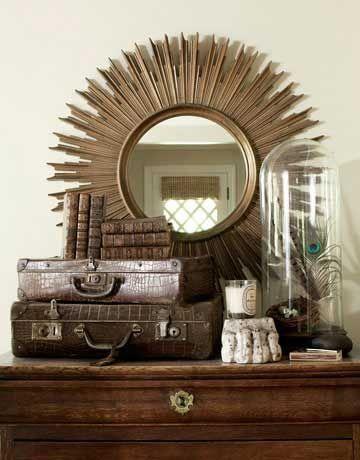 espejos decorativos con forma de sol