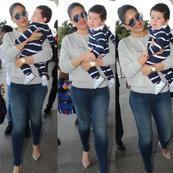 Kareena Kapoor Khan tries to calm down a CRYING Taimur and we have it captured in 5 clicks #FansnStars