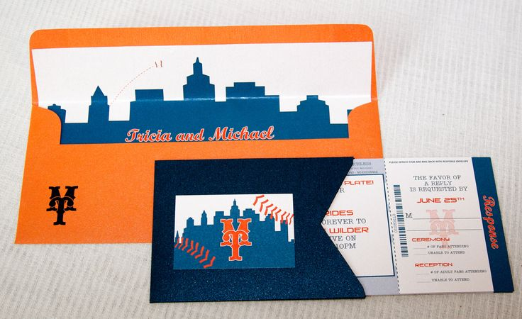 EXACTLY what I want my invitations to look like (except the Mets part)!! #wedding