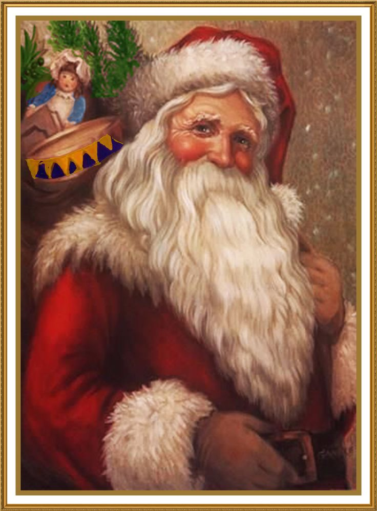 Father Christmas Santa Claus 89 Holiday Counted Cross Stitch or Counted Needlepoint Pattern