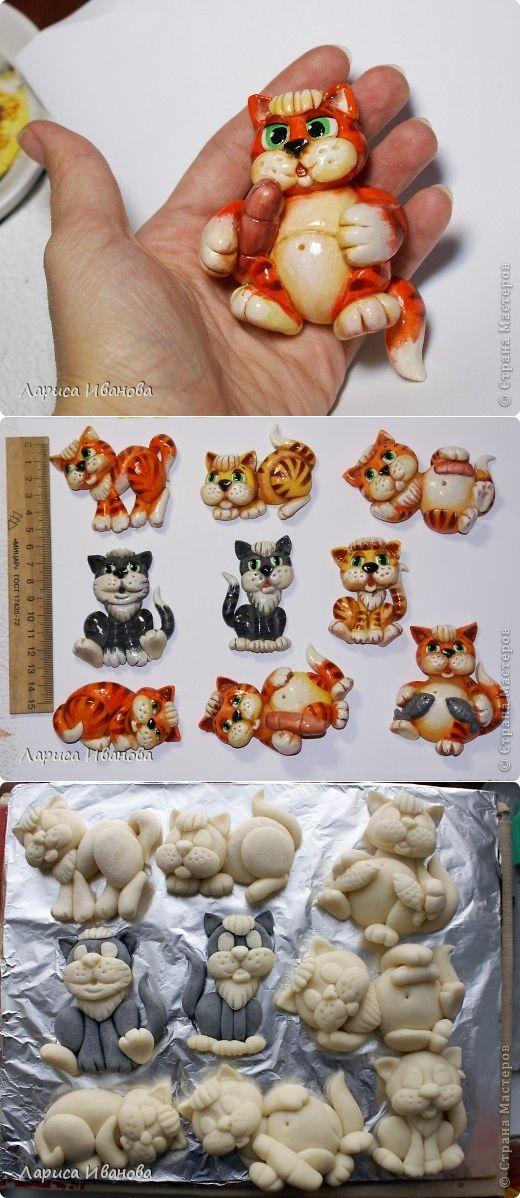 Коты-магниты (МК по росписи) | Страна Мастеров