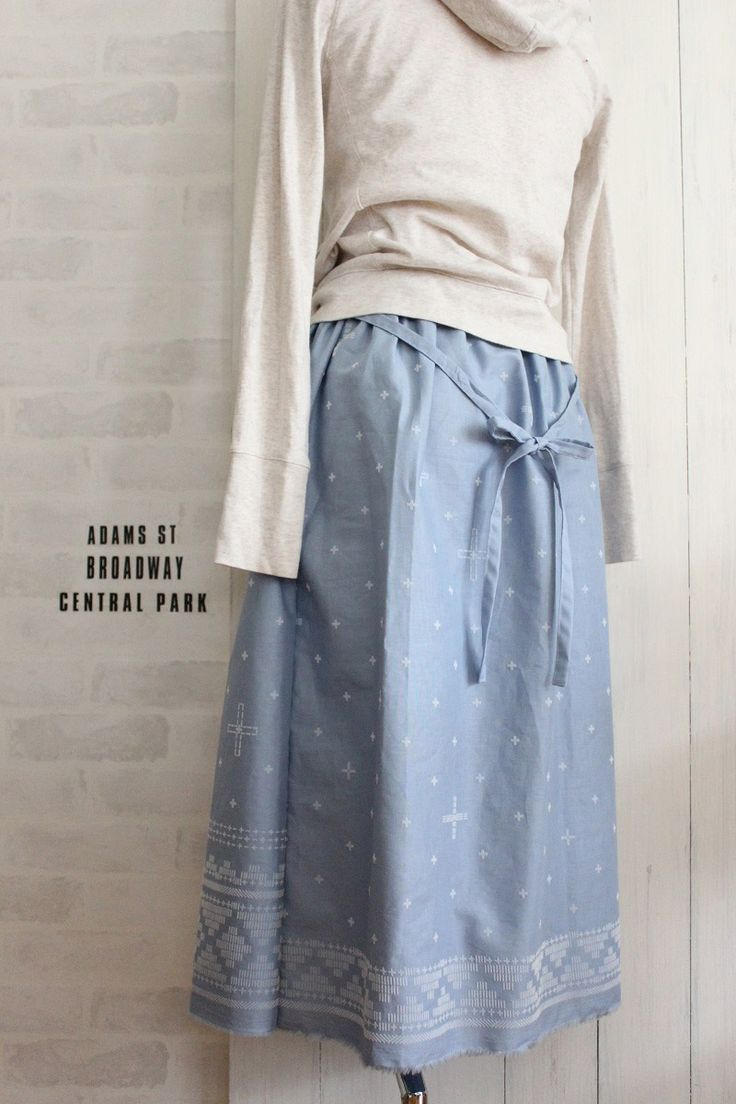 Gathered Skirt with a Ribbon Accent | kokka-fabric.com/en