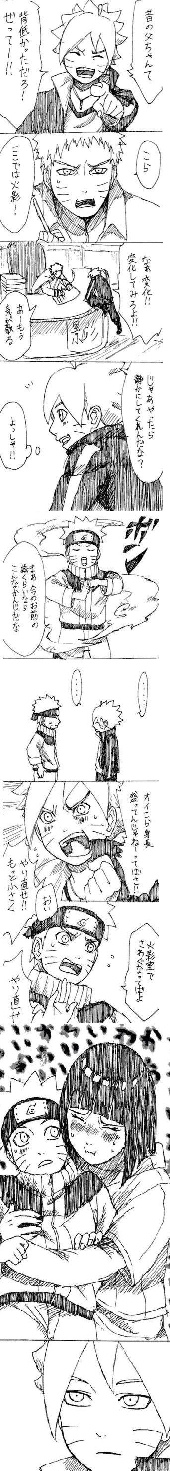 Naruto, Boruto, and Hinata/ please someone translate this!!