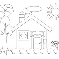 Aneka Gambar Mewarnai Gambar Mewarnai Rumah Untuk Anak Paud Dan Tk