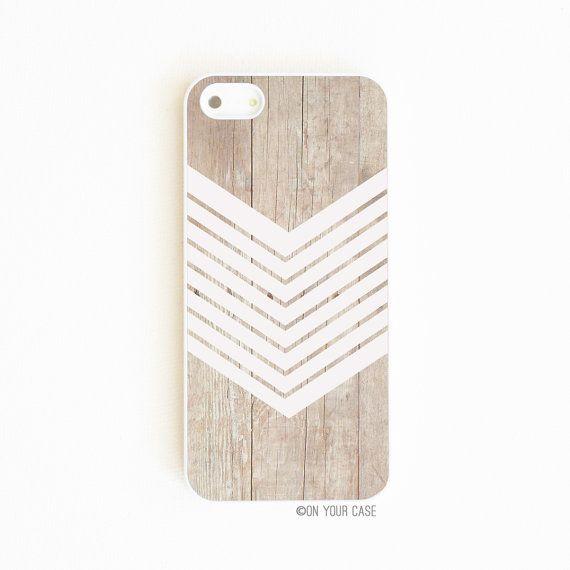 iPhone 5 Case Wood Geometric White Minimalist von onyourcasestore, $18.99