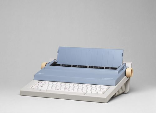 """ETP 55 Portable Typewriter Mario Bellini (Italian, born 1935)  1985-86. Cast-injected ABS polymer casing, 4 7/8 x 16 1/8 x 13"""" (12.4 x 41 x 33 cm). Manufactured by Ing. C. Olivetti & C. S.p.A., Ivrea, Italy and Ing C. Olivetti & C., S.p.A., Ivrea, Italy. Gift of the manufacturer. © 2013 Mario Bellini"""