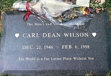 THE GRAVE OF CARL WILSON  (of the Beach Boys)  at Pierce Brothers Westwood Memorial Park  in Los Angeles, California
