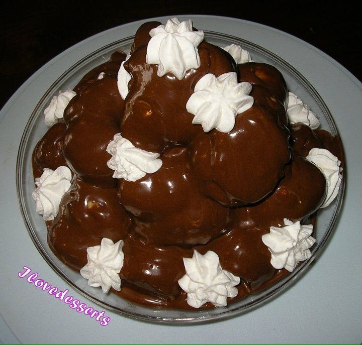 Profitterol panna e cioccolato - con il bimby