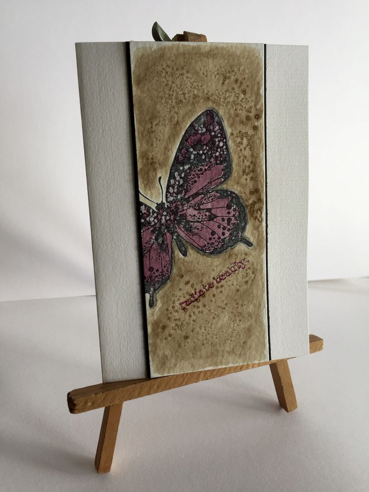 Handmade card with organic dye by kidmandesign