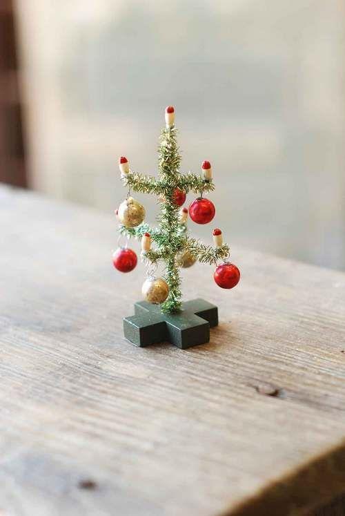Mini Tinsel Christmas Tree