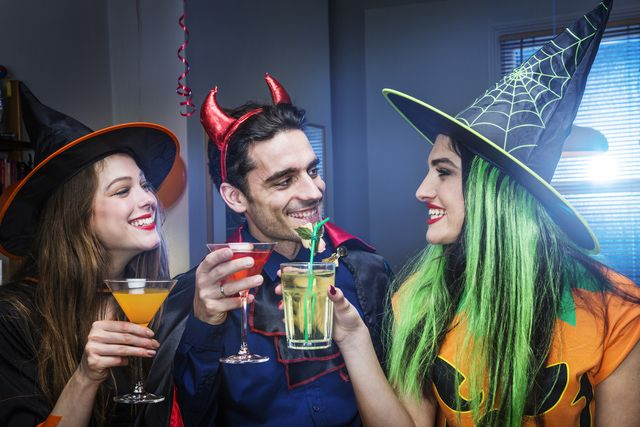 35 Free Halloween Party Games for Adults. Probably the best games I've seen so far, none of them are booze-based and they weren't overly adult, just ones that can keep people who have longer attention spans occupied.