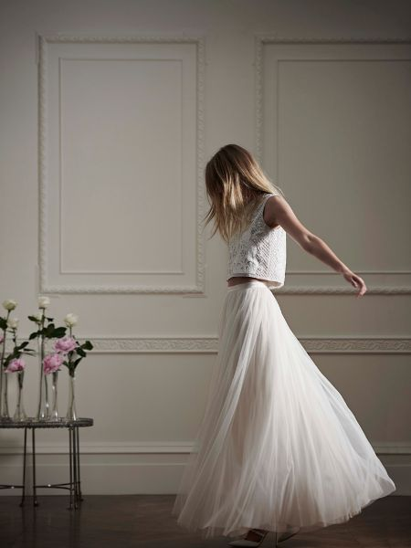 Crop Top Wedding Dress // Wedding Dress 2016 //  Needle and Thread for Net-a-porter #wedding #weddingdress