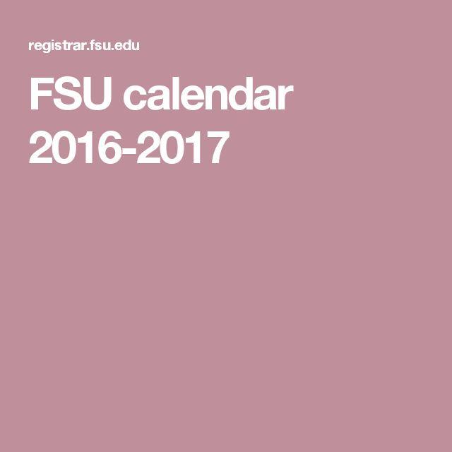 FSU calendar 2016-2017