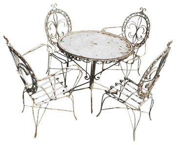 Fleur De Lis Patio Set mediterranean outdoor tables