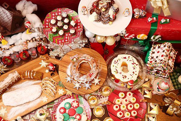 八事サーウィンストンホテルの「クリスマスデザートブッフェ」雪だるまのマカロンやノエルショコラロール