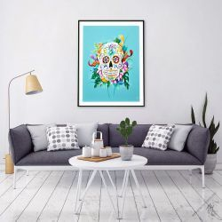 Art Posters Mexican Skull Calavera 2 copies Signed & Limited edition #sugarskull #mexicanart #artposters #cranemexicain