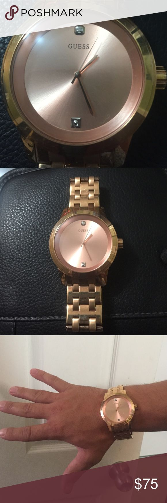 Guess men's Rose Gold watch. Used,good condition. Men's Guess Rose Gold watch ~ Good used condition. GUESS Accessories Watches