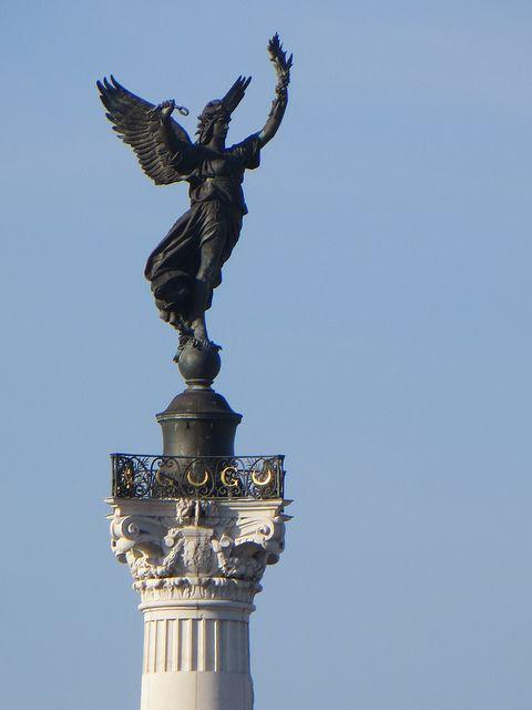 Le Génie de la Liberté, Monument aux Girondins, Place des Quinconces, Bordeaux, Gironde,Aquitaine, France.