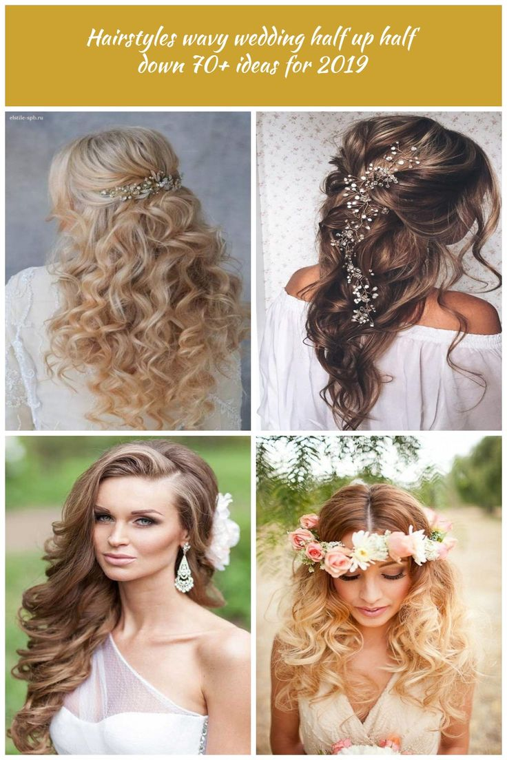 Hairstyles wavy wedding half up half down 70+ ideas for 2019 - #hairstyles #ideas #wedding - #HairstyleWavyWedding wavy wedding hairstyles Hairstyles ...