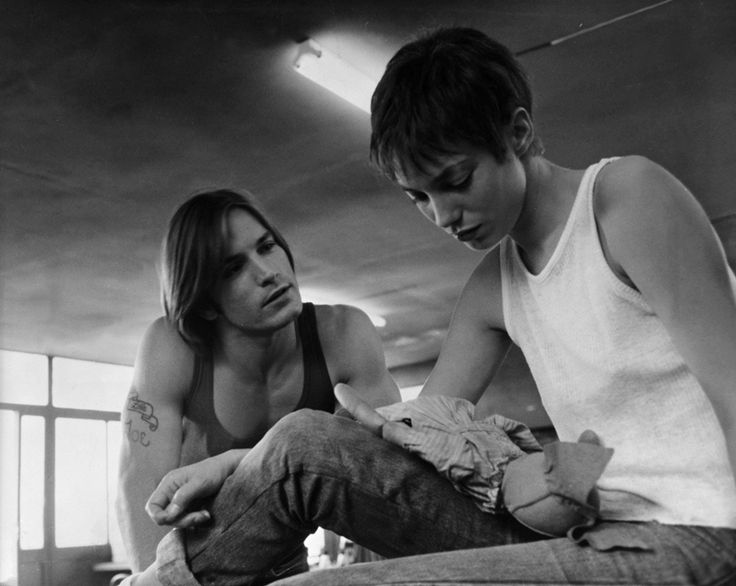 Joe Dallesandro et Jane Birkin dans le film Je t'aime moi non plus de Serge Gainsbourg