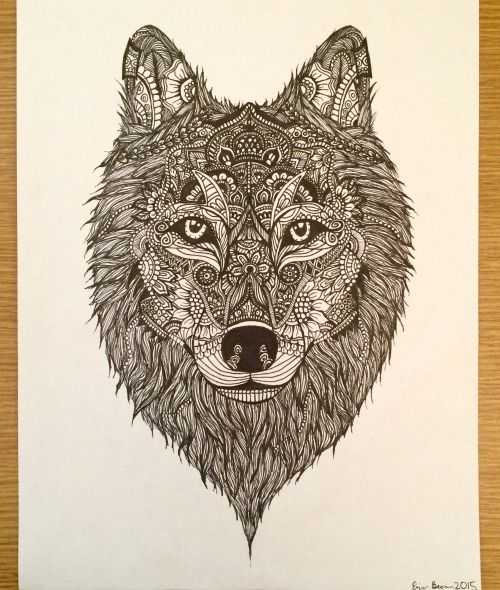 how to draw a wolf's face - Google Search