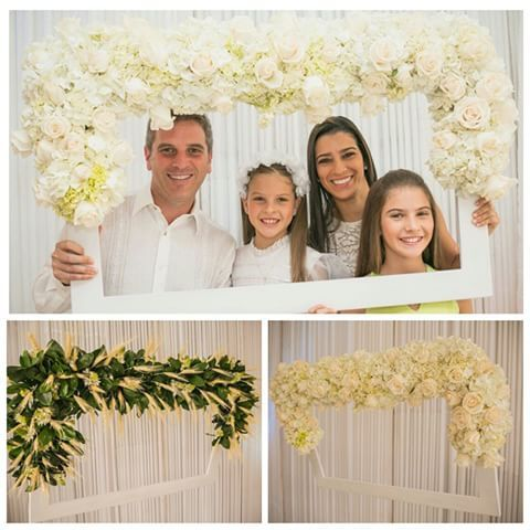 Flower photo frame
