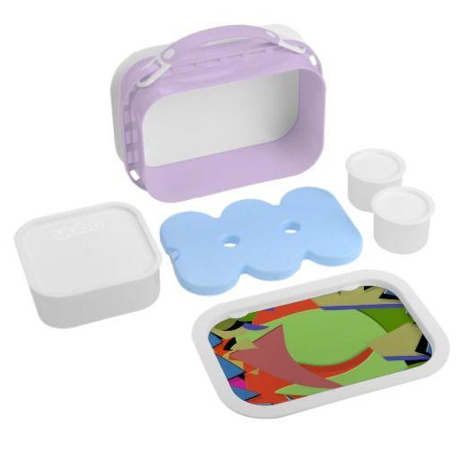 Triangular Dimension 4  Purple yubo Lunch Box : Graysonart