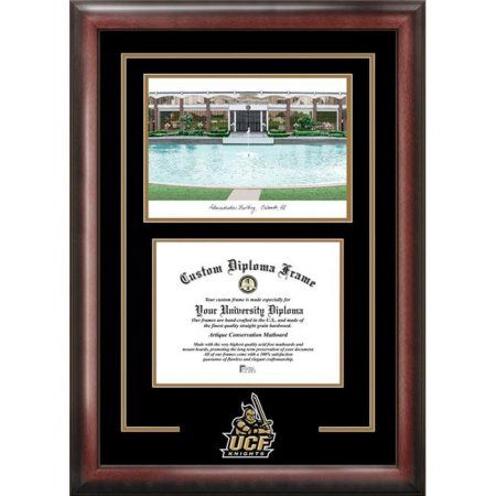 University of Central Florida 8.5 inch x 11 inch Spirit Graduate Diploma Frame with Campus Images Lithograph