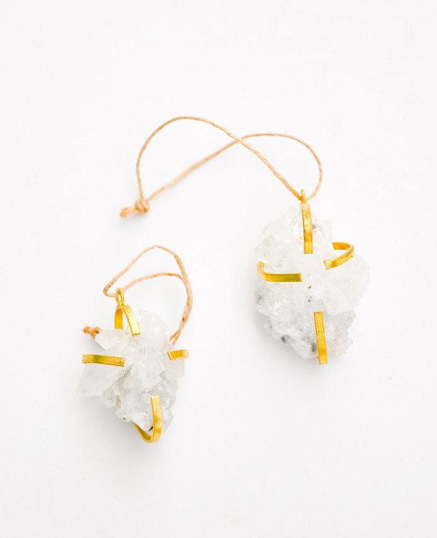 Leif Caged Quartz Ornament, $20 | 23 Magical Christmas Ornaments You'll Want Now