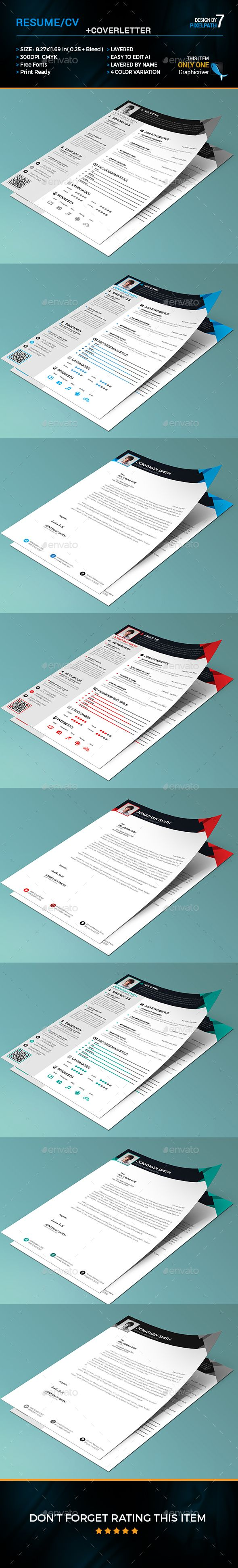 cv and covering letter%0A Resume   CV Cover Letter Template