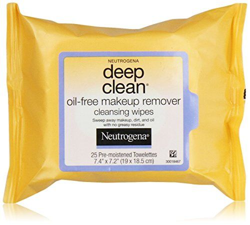 Neutrogena Deep Clean Oil Free Makeup Remover Cleansing Wipes, 25 Count * To view further for this item, visit the image link.