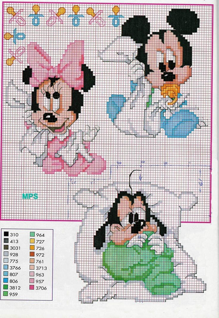 Disney Babies 8/11 point de croix