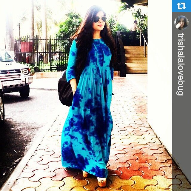 """63 Likes, 43 Comments - CRAZYHEART (@crazyheartindia) on Instagram: """"#Repost @trishalalovebug with @repostapp.・・・Earlier today in my new @crazyheartindia maxi dress …"""""""