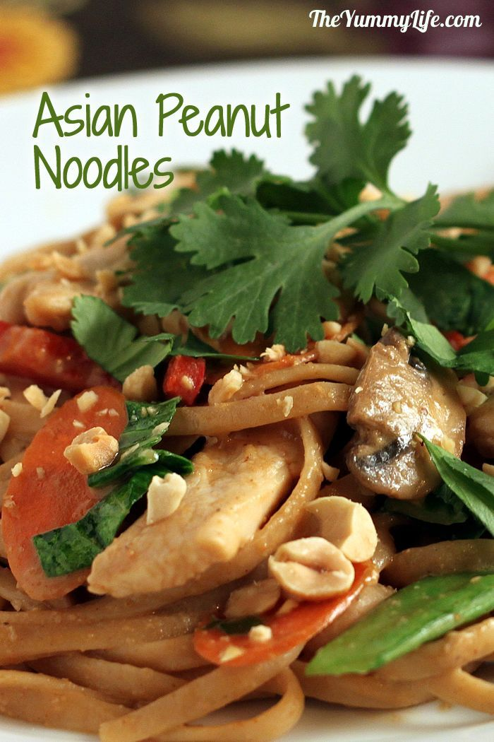 ... Peanut Noodles, Side Dishes, Chops Veggies, Easy Peanut, Asian Noodles