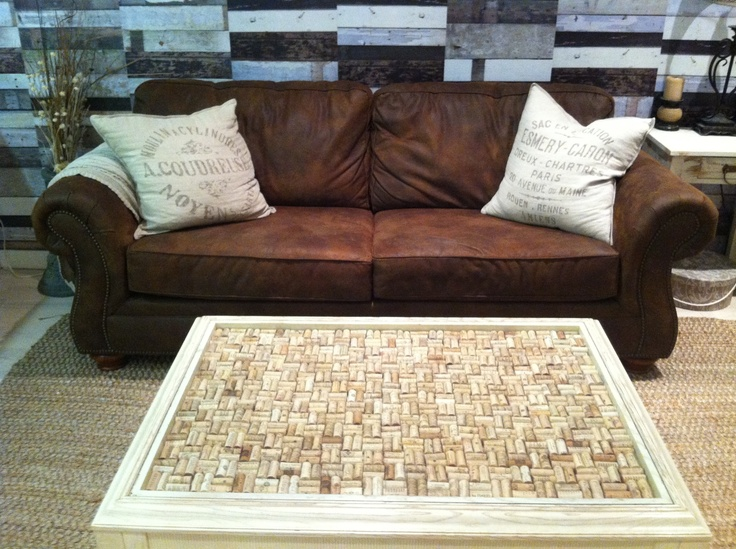 Wine cork coffee table my new table pinterest for Table 52 wine list