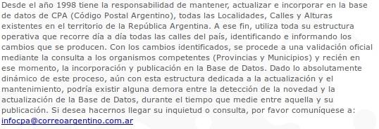 Correo Argentino CONSULTA TU CÓDIGO POSTAL!