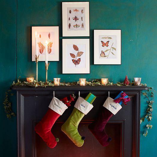 nature prints + velvet stockings