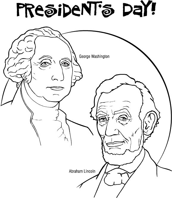 Presidents Day Coloring Pages George Washington And Abraham