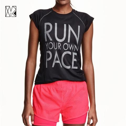 Women's Gym / Workout / Athletic Letter Print Running T-Shirt