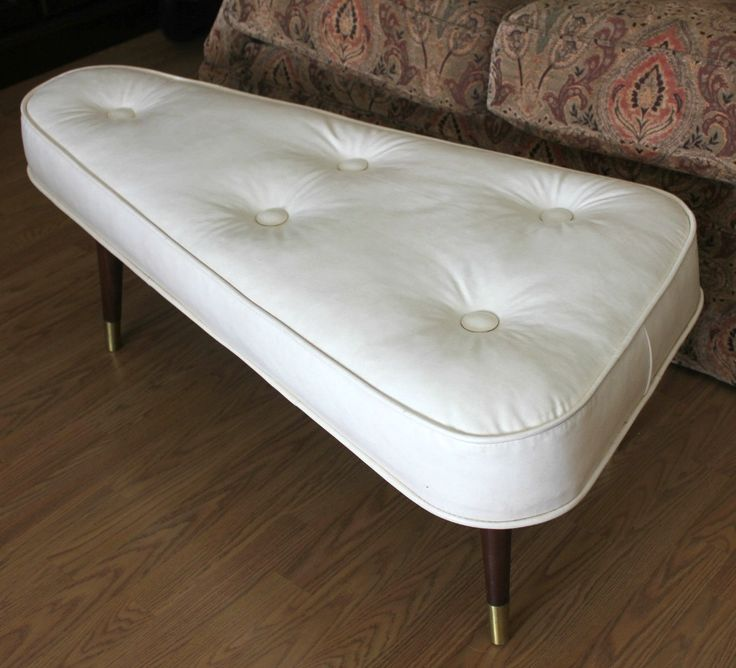 Vintage Crawford Ottoman Bench Footstool Foot Stool Rest
