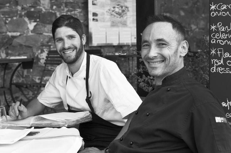 Head Chef Kyle Knight and Chef Owner Laurent Deslandes