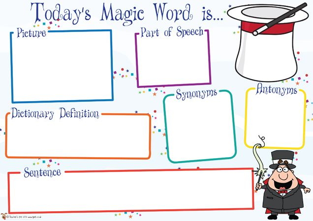 Teacher's Pet Displays » Today's Magic Word Mat » FREE downloadable EYFS, KS1, KS2 classroom display and teaching aid resources