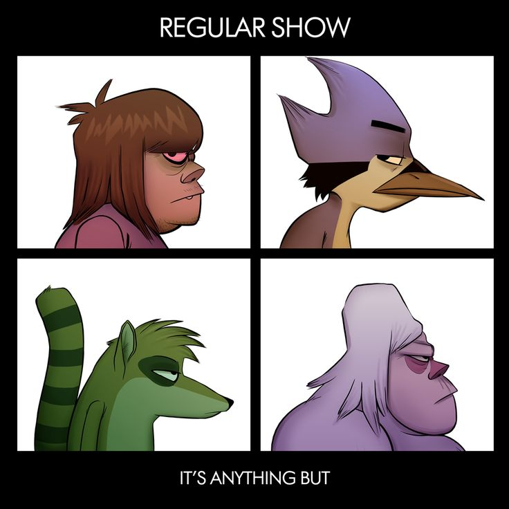 Regular Show meets the Gorillaz. Sickest thing ever.!