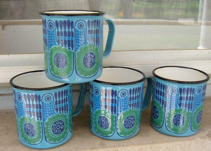 Vintage Finel Bird Mugs | I've never seen this pattern befor… | Flickr