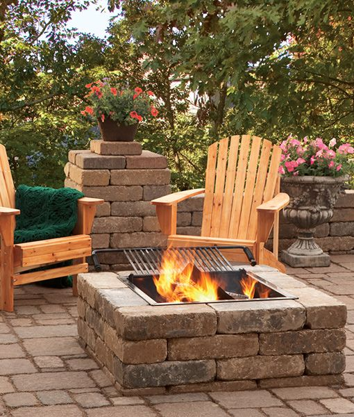 Square Fire Pit Kit <p id='text-smaller'>Economy Line</p>