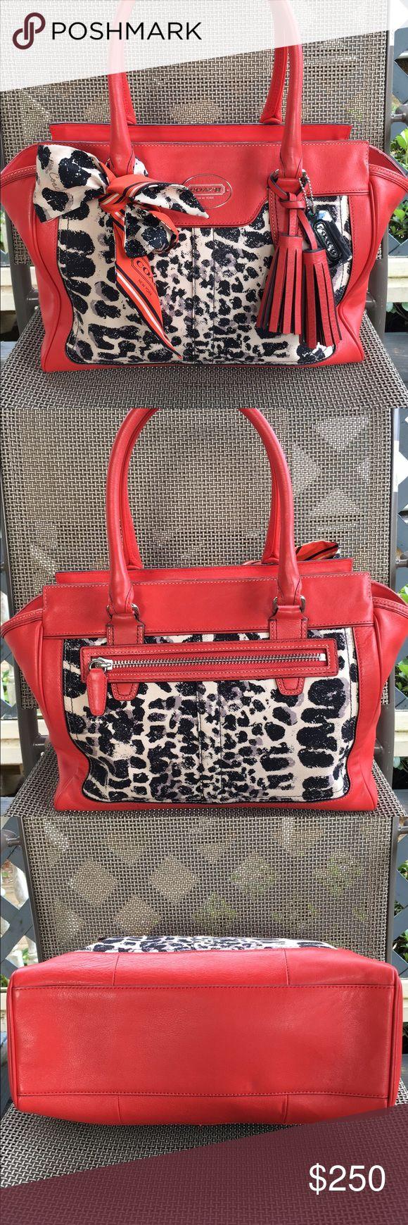 Coach Legacy Ocelot Handbag Pristine pre-owned condition Coach Bags Totes