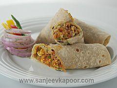 Vegetable Frankie Vegetarian Recipe | KhaanaKhazana | by Master Chef Sanjeev Kapoor.