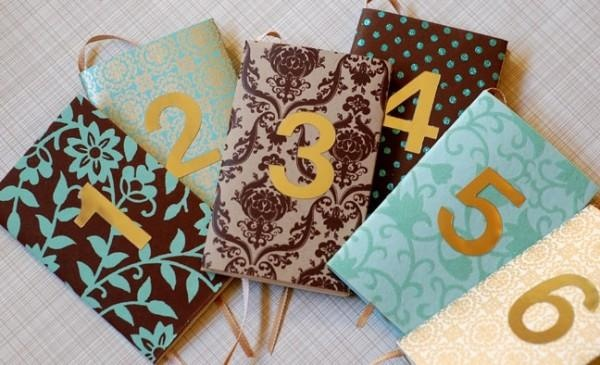 table number notebooks