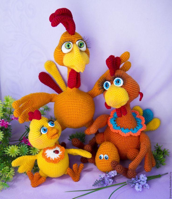 Купить Цыплёнок Сёмушка Петухов - желтый, цыпленок, цыпа, петушок, петух, игрушка ручной работы