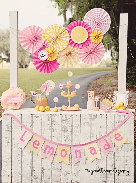 Lemonade Stand Photo Prop Concession stand by PrettyLittleWedding